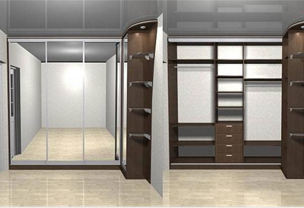 как шкаф помогает увеличить комнату